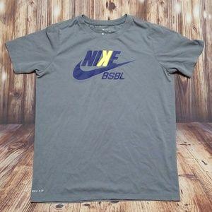 Nike dri fit tee boys size large